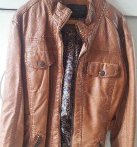 Куртка кожаная новая. Ремень в подарок