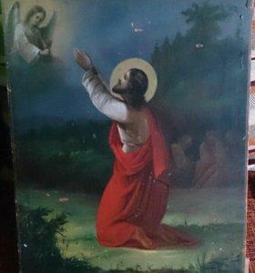 Икона Старинная(моление о чаше)
