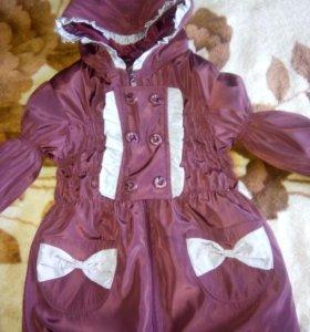 Куртка на девочку 4-7 лет