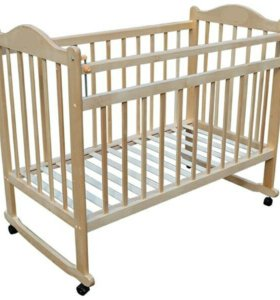 Детская кроватка ''колесо-качалка'' с матрасом