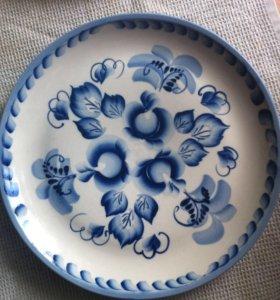 Декоративная тарелка Гжель