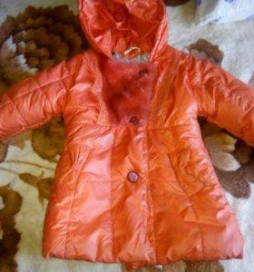 Куртка на девочку 5-8 лет.