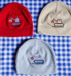 Новые шапочки на малыша до 6 мес.