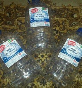 Бутылки пластиковые 5 литров б/у