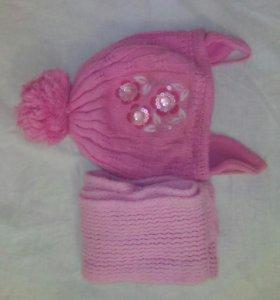 Шапка ,шарф (зима) . 4-5 лет