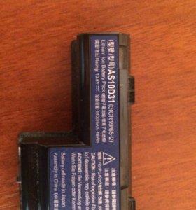 Батарея на acer as10d31 4400mah
