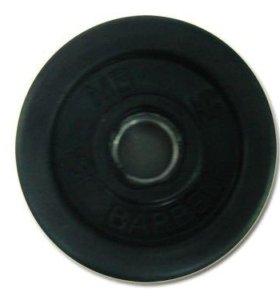 Диск SLS GYM, обрезинка d-30mm 1кг блин штанга