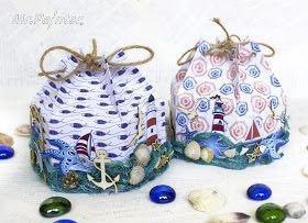 Морская бумага для декора и скрапа