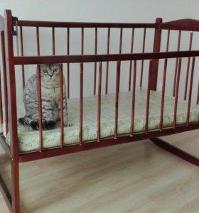 Кроватка+матрас+постельное белье+одеяло+бортики