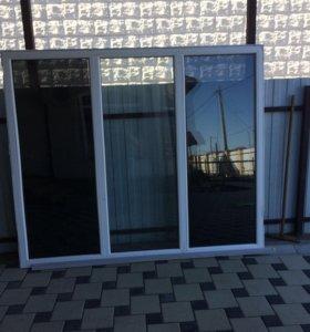 Окно пластиковое 1,7*2м. с подоконником и отливом