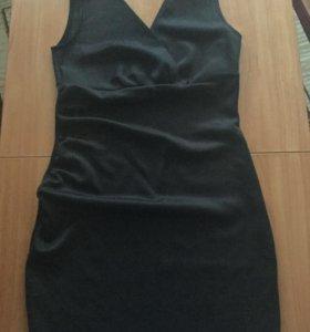 Новое чёрное вечернее платье 46-48