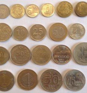 Коллекция монет Турции