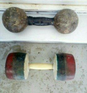 Меняю две советские гантели 9 и 8,6kg на гирю 16kg