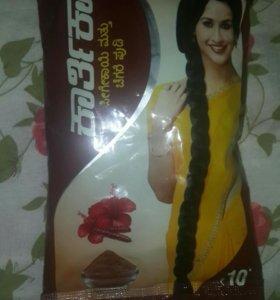 Индийский шампунь - порошок для мытья волос