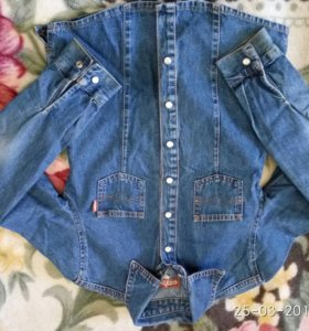 Джинсовая рубашка 134 Gloria Jeans