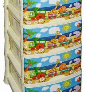 Комод ящик детский для игрушек Паровозик