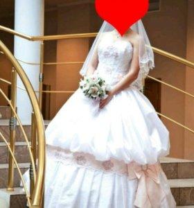 Кукольное свадебное платье