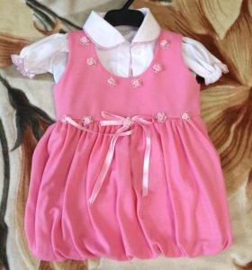 Платье детское с рубашкой