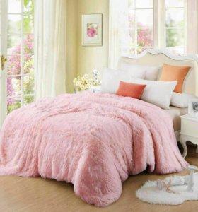Новый пушистый пледик (нежно-розовый)