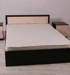 Новая кровать 140х200 с матрасом!