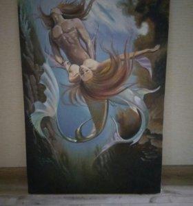 Копия картины Б.Валеджо «Triton» холст