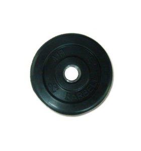 Диск SLS GYM обрез. чер. D-30mm. 2,5 кг блин штанг