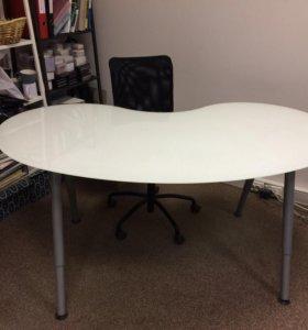 Стол IKEA стеклянная столешница