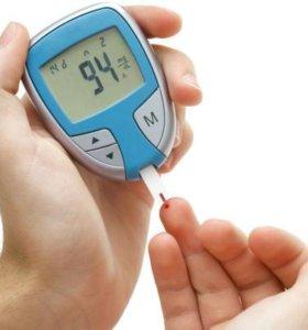 Измерение крови на сахар глюкометром