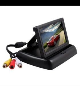 Складной LCD монитор на торпедо автомобиля для под