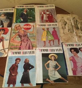 Журналы мод для коллекционеров 1920гг и 1960гг