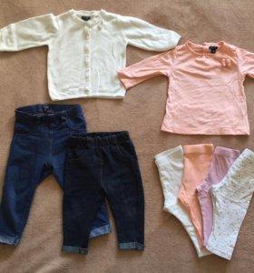 Вещи на девочку kiabi 3-9 месяцев