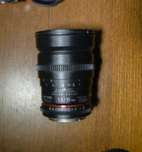 Samyang 35mm t1.5 Canon EF