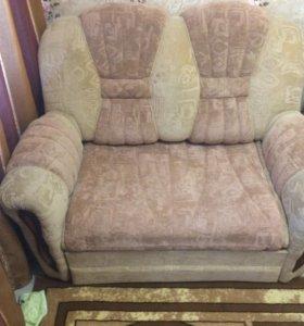Диван и кресло раздвежные