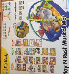Развивающий музыкальный коврик Ks kids НОВЫЙ!!!