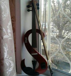 Электро-скрипка (новая+полный комплект)