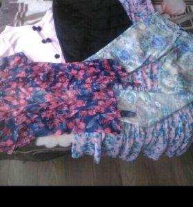 Юбки, платья, блузки, брюки 46-48 размера