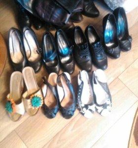 Обувь женская 38-39 размер кожа и кожзам
