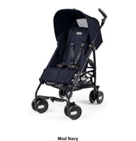Новая коляска Peg perego pliko mini + бампер navy
