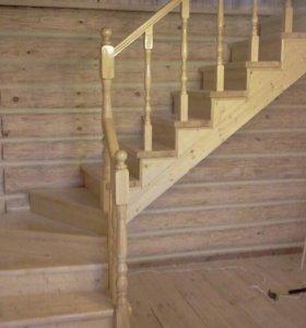 Лестницы из массива дерева под заказ!