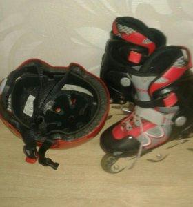 Детские ролики и шлем