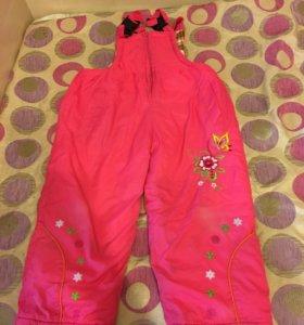Зимние штаны для девочки 2-3 года