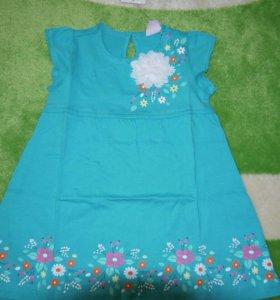 Новое нарядное платье р.86-92