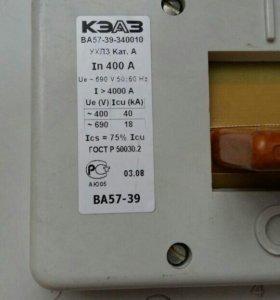 Трехполюсный автоматический выключатель 400А