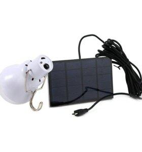 Походный светильник на солнечной панели