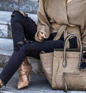 рваные, новые джинсы