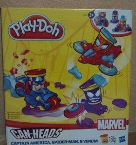 Пластилин плэйдо с игрушками