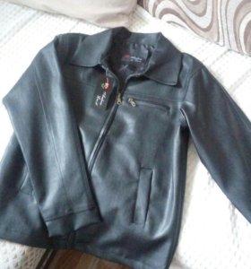 Куртка мужская кожанная