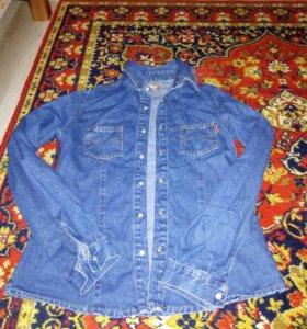 Рубашка джинсовая, 44 размер