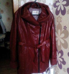 Куртка кожаная на утеплителе