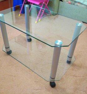 Столик стеклянный, тумба под